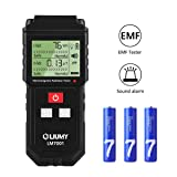 EMF Meter, LIUMY Handheld Mini EMF Electromagnetic Field Radiation Detector,Digital LCD Radiation Meter/Sound and Light Alarm (Color: Black, Tamaño: 16.5×7.7×3cm)