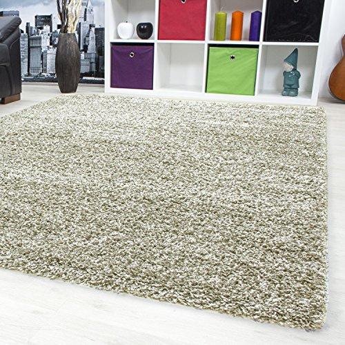 Tappeto a pelo lungo per salotto tappeto pelo lungo tinta unita Tappeti Viva 153, beige, 160 x 230 cm
