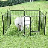 Songmics 8-tlg Welpenauslauf für Hunde Kaninchen kleine Haustiere 80 x 80 cm Farben auswählbar -