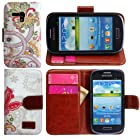 Harryshell Fashion Leather Stand Protective Case Cover for Samsung Galaxy Mini S3 S3mini(not S3) I8190 (color 3)