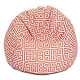Majestic Home Goods Towers Bean Bag, Small, Orange