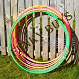 FunkyBuys® 4pk Quality Adults Kids Solid Multicolor Small Large Hula Hoops DIA:55cm (21