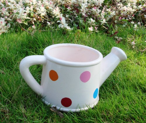 Garden XP Ceramic Spotty Watering Can Planters