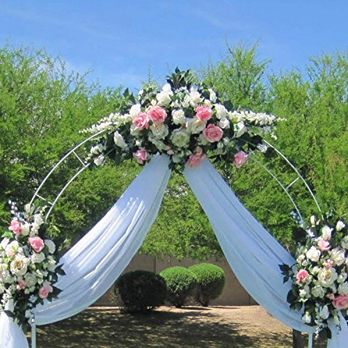 Adorox 7.5 Ft White Metal Arch Wedding Garden Bridal Party ...