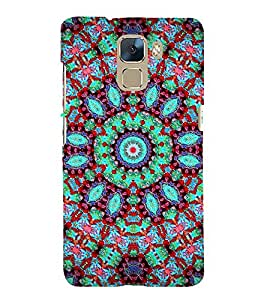 GLOWING ASSORTED JEWELS DESIGN PATTERN 3D Hard Polycarbonate Designer Back Case Cover for Huawei Honor 7