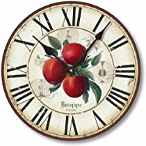 Item C8202 Antique Style 12 Inch Botanical Apples Clock