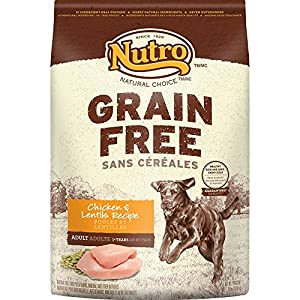 NUTRO Grain Free Adult Chicken and Lentils Recipe Dry Dog Food 24 Pounds