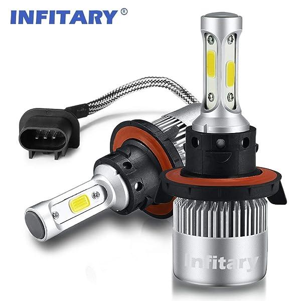 Alla Lighting LED H13 Headlight Bulb Lamp Dual beam Conversion kit Upgrade White