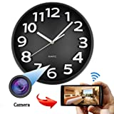 1080P WiFi Hidden Camera Wall Clock Wireless Spy Camera Nanny Cam with Motion Detection, Indoor Covert Security Camera for Home and Office