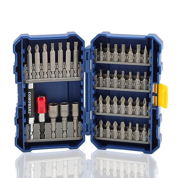 COMOWARE 40 Piece Screwdriver Bit Set - S2 Alloy Steel with Tough Case (Color: 40pcs)
