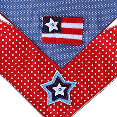 Independence Day 4th of July Dog Bandana 2 Pack