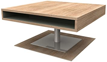 HL Design MDF 01-01-100.2 Pia Coffee Table with Melamine, 80 x 80 x 40 cm, Sonoma Oak