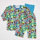 きかんしゃトーマス 前ボタン ロールアップ式 腹巻付き長袖パジャマ 80-95cm (T7601) (80cm)