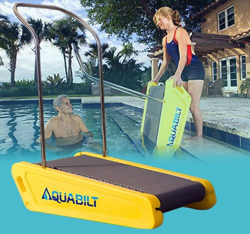 Galleon Aquabilt A 2000 Excercise Swimming Pool Treadmill W Removable Handrail