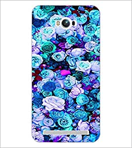 PrintDhaba Flowers D-2088 Back Case Cover for ASUS ZENFONE MAX ZC550KL (2016) (Multi-Coloured)