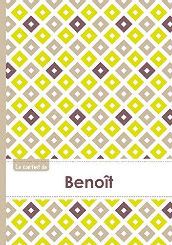 Le carnet de Benoît - Lignes, 96p, A5 - Carré Poussin Gris Taupe (Adulte)