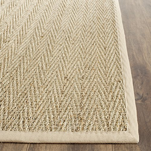 Safavieh Natural Fiber Collection NF115A Handmade Natural and Beige Seagrass Area Runner, 2 feet 6 inches by 20 feet (2'6