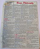 img - for Data-Guide's Basic Philosophy - Solid Plastic Reference Sheet book / textbook / text book