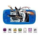 Handheld Game Console , Portable Video Game Console 4.3 Inch 3000 Classic Retro Game Console Pap-KIII , Support GBA / GBC / GB / SEGA / NES / SFC / NEOGEO - Blue (Color: Blue)