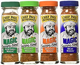 Chef Paul Prudhomme\'s Magic Seasoning Blends  Magic 4-Pack, Qty. Four  2-ounce bottles