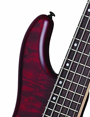 Schecter Stiletto Custom-5 Electric Bass Guitar (5 String, Vampyer Red Satin) (Color: VRS)