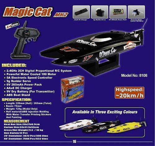 Joysway Magic Cat MK2 RTR EP SPEED BOAT 2.4GHz COLORS VARY