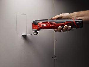 Milwaukee Electric Tool 2426-21 M12 Cordless Multi-Tool Kit, 12 V, Li-Ion, 1.5 Ah, 5000-20000 opt (Color: red)