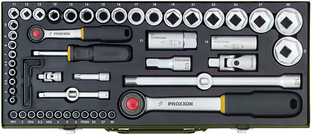 Proxxon 23040 KomplettSteckschlüsselsatz 1/4 Zoll + 1/2 Zoll, 56teilig  BaumarktKundenbewertung und Beschreibung