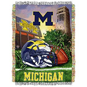 NCAA Michigan Wolverines 48-Inch-by-60-Inch polyester Tapestry Throw