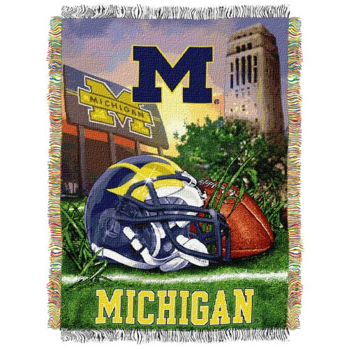 NCAA Michigan Wolverines 48-Inch-by-60-Inch polyester