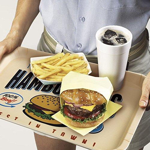 ckb ltd american style retro diner hamburger food serving tray tablett k che ideal f r. Black Bedroom Furniture Sets. Home Design Ideas