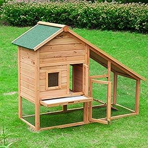 Outsunny conigliera gabbia casetta per conigli for Casetta da giardino fai da te