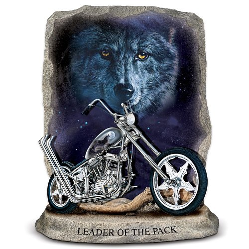 Leader Of The Pack Motorcycle Figurine by The Bradford Exchange