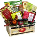 Naturally Beautiful Gourmet Food and Snacks Gift Basket (Chocolate Option)
