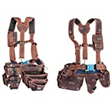 HWGLOBAL Electrician Maintenance Carpenter Tool Pouch Bag Technician's Tool Holder Work Organizer Framer's Rig Belt Hammer holder Drill holsters Multipurpose pocket Suspenders Chest Strap Phone Pocket