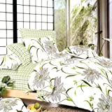 Blancho Bedding - [Green Lotus] 100% Cotton 4PC Comforter Cover/Duvet Cover Combo (King Size)by Blancho Bedding
