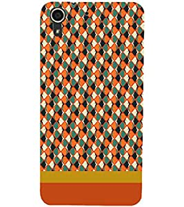 PrintDhaba Pattern D-1842 Back Case Cover for HTC DESIRE 728 (Multi-Coloured)