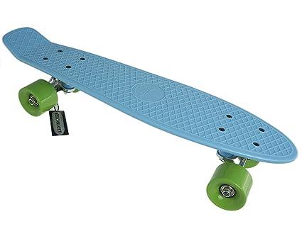 SFT Skateboard complet en plastique Bleu/vert 56 cm