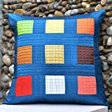 Cushion Casa Cushion Covers (Blue) - B00NMC8UE6