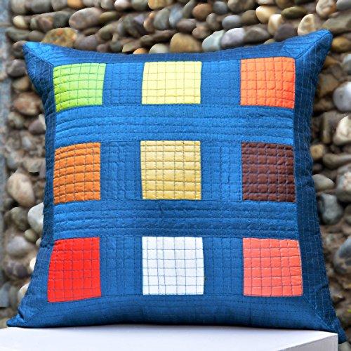 Cushion Casa Cushion Covers (Blue) - B00NMC8UE6