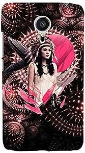 PrintVisa 3D-MEIZUMX5-D7768 Girly Tribal Pink Back Cover for Meizu MX5