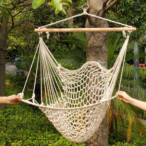 Backyard Hammock Swing :  Deluxe Sky Hanging Air Chair ? Hammock Swing ? zPatioFurniturecom