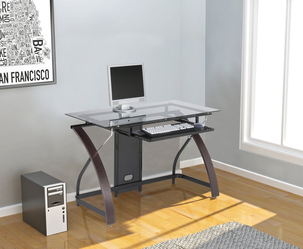 best computer desk for home and office for  - the good this desk has a modern clean and sleek design