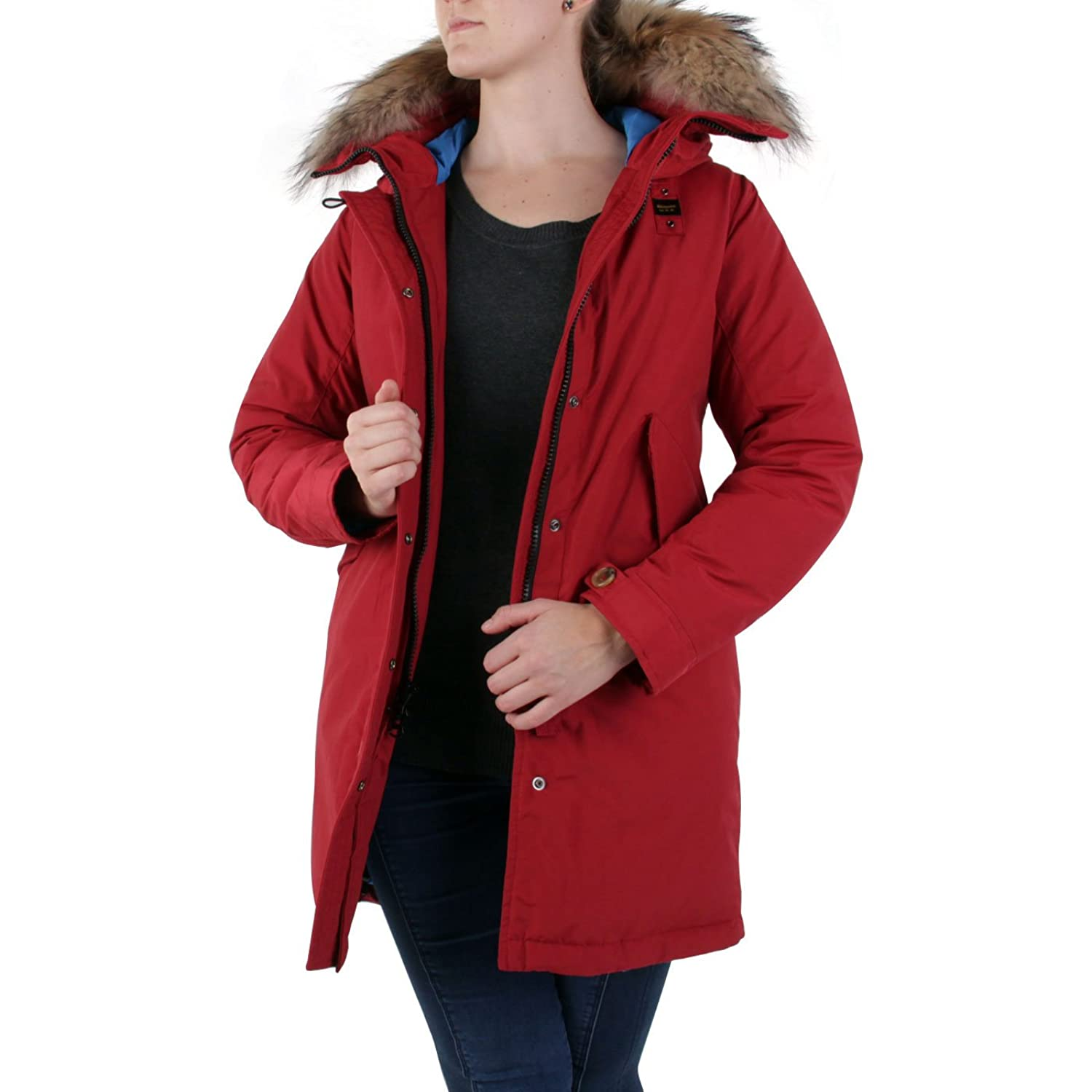 BLAUER USA Damen Winter Daunenparka Red BLD03045