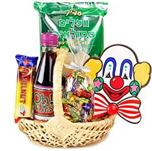 Mishloach Manos Happy Days Wicker Purim Basket