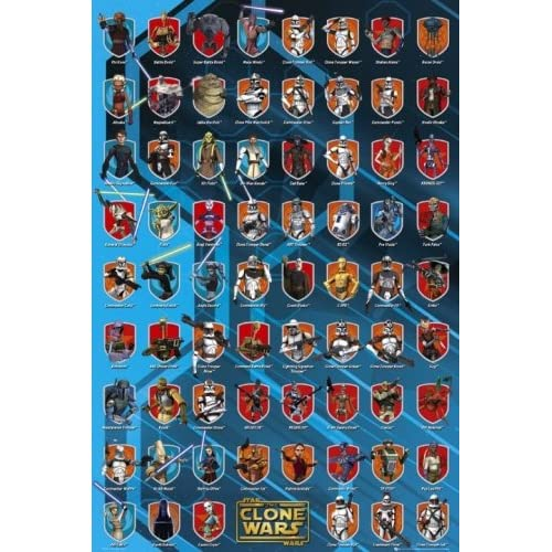 : Star Wars: The Clone Wars - TV Show / Movie Poster (All Characters ...