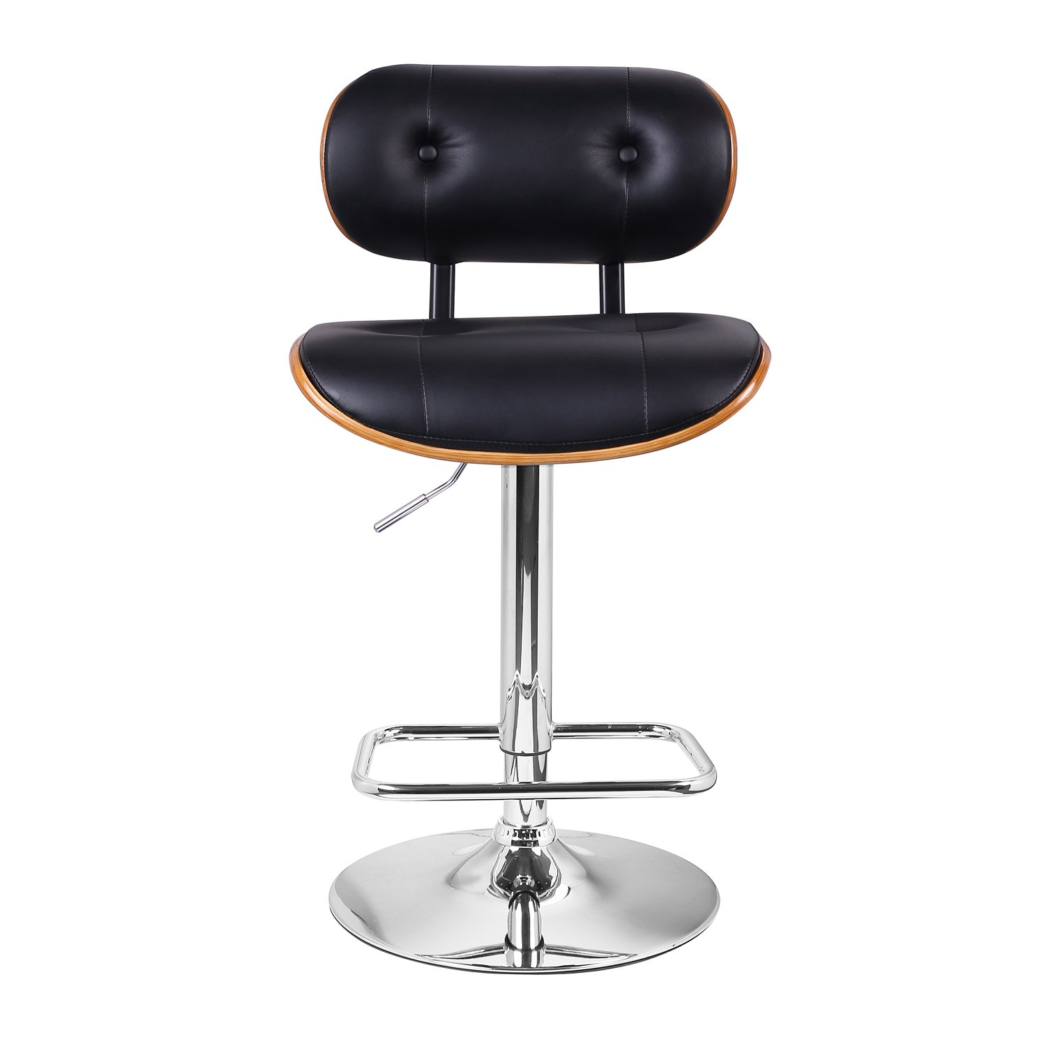 Best Cheap Satin Black Finish Metal Swivel Bar Stool