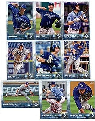 2015 Topps Baseball Cards Tampa Bay Rays Team Set (Series 1- 9 Cards) Including David DeJesus, Alex Cobb, Jake Odorizzi, James Loney, Evan Longoria, Matt Joyce, Chris Archer, Logan Forsythe, Kevin Kiermaier