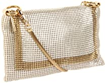 Whiting & Davis  The Edge Crossbody 1-5816PL Cross Body,Pearl,One Size