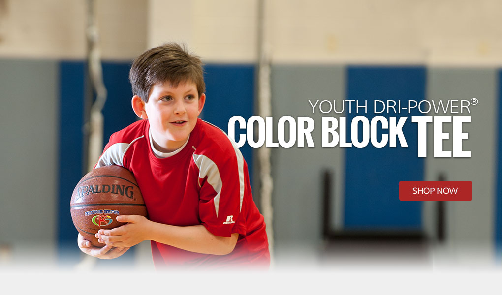 Youth Dri-Power Color Block Tee